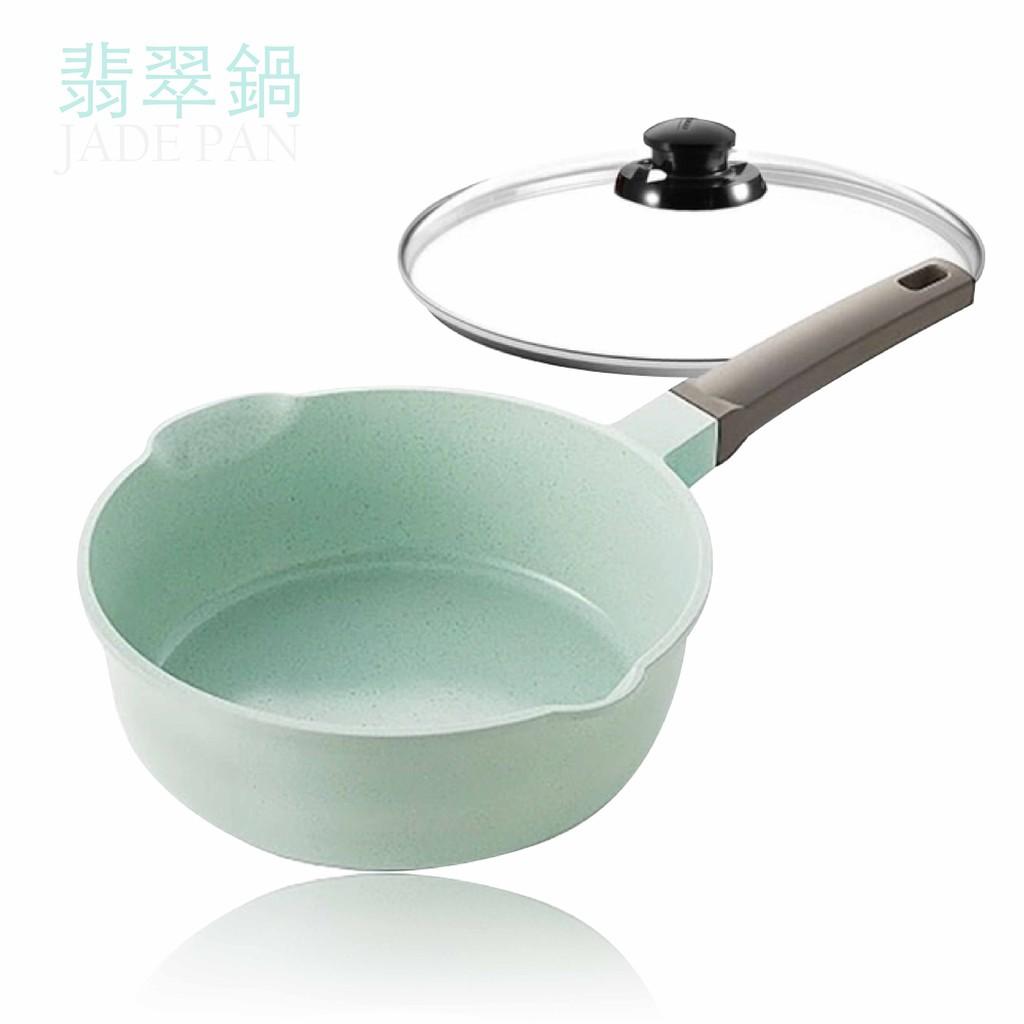 美心 MASIONS 厚釜鑄造IH玉石翡翠萬用加深不沾鍋平底鍋(26cm)