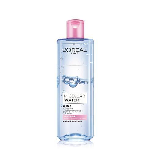 巴黎萊雅3合1卸妝潔顏水保濕型400ml【愛買】