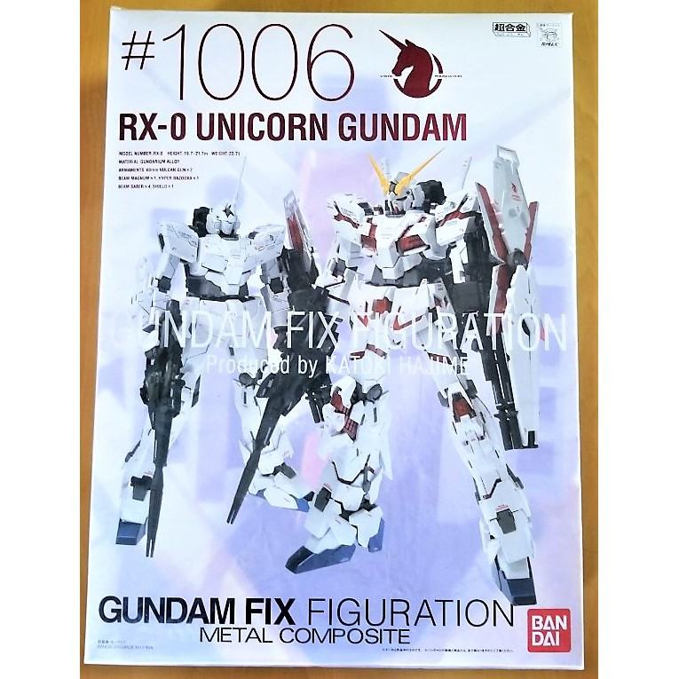 GUNDAM FIX METAL COMPOSITE GFF gff gffmc 1006 獨角獸 鋼彈(日版,缺件)