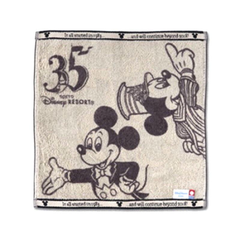 日本迪士尼35週年米奇毛巾 日本製