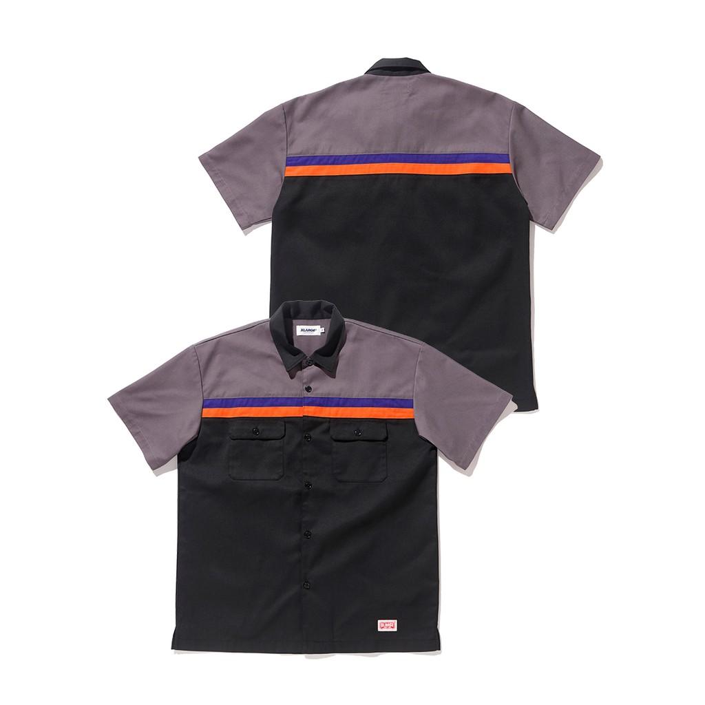 XLARGE S/S LINE WORK SHIRT工作襯衫 01182408