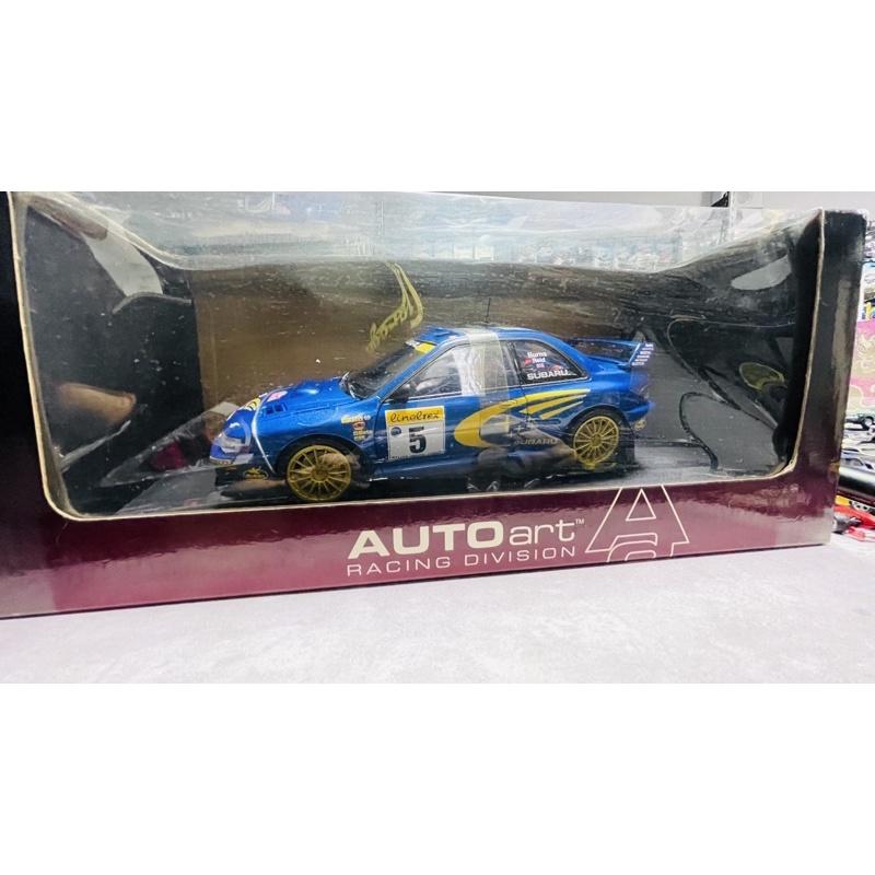 《G.K.D.M》 Autoart 1/18 Subaru Impreza WRC 1999 #5。原盒無背板