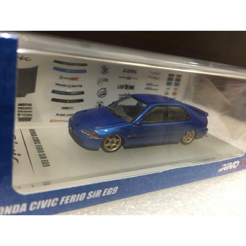 Inno64 EG9 附水貼 輪胎 Inno64 Honda Civic Ferio SiR EG9 1/64 K6