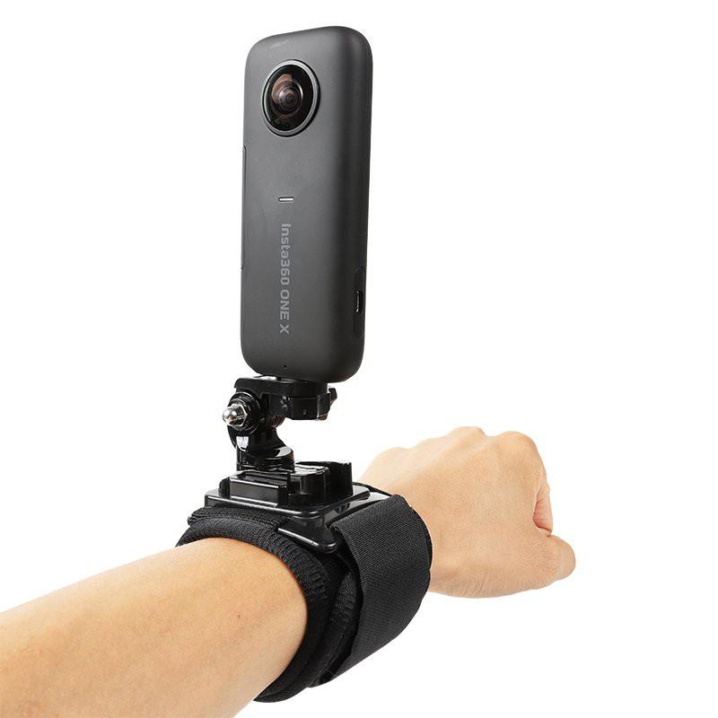 適用insta360 one x2手腕帶全景相機360度旋轉手臂固定綁帶配件胸戴頭部綁帶支架360onex背包夾書包夾子