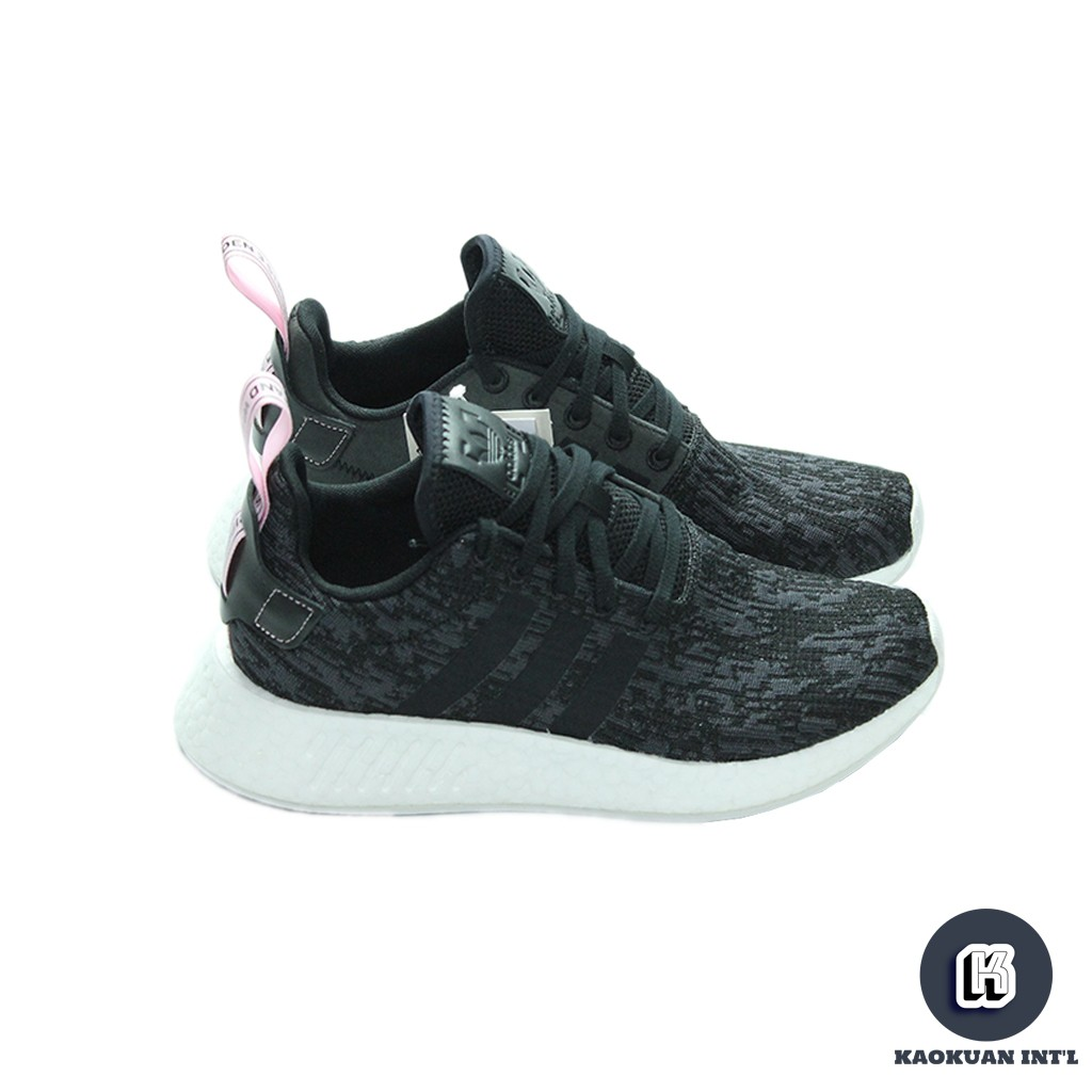 reputable site 582d3 35fa2 Adidas NMD_R2 W 黑 粉 雪花 粉尾 粉拉環 女鞋 BY9314【高冠國際】