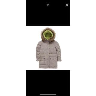 【hilltop山頂鳥】兒童款蓄熱羽絨連帽長大衣F21C34-卡其