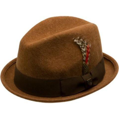 Brixton Gain Fedora 紳士帽 (深咖啡)《Jimi Skate Shop》