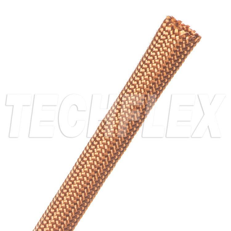 美國Techflex NMN系列 銅色 柔軟 尼龍布料材質 100%覆蓋 無擴張性 線材套管 x1公尺
