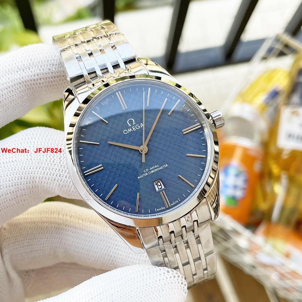 【二手正品】歐米茄 OMEGA精品男士腕錶 頂級316精鋼錶殼 藍寶石鏡面 男錶 手錶 腕錶  543535