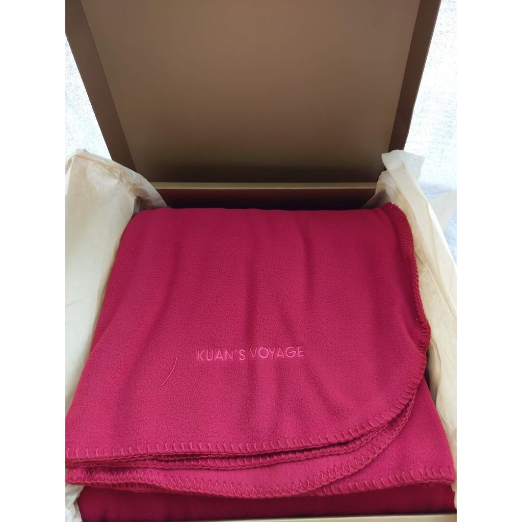 寬庭大紅隨意毯 毛毯 禮盒包裝 188*124cm
