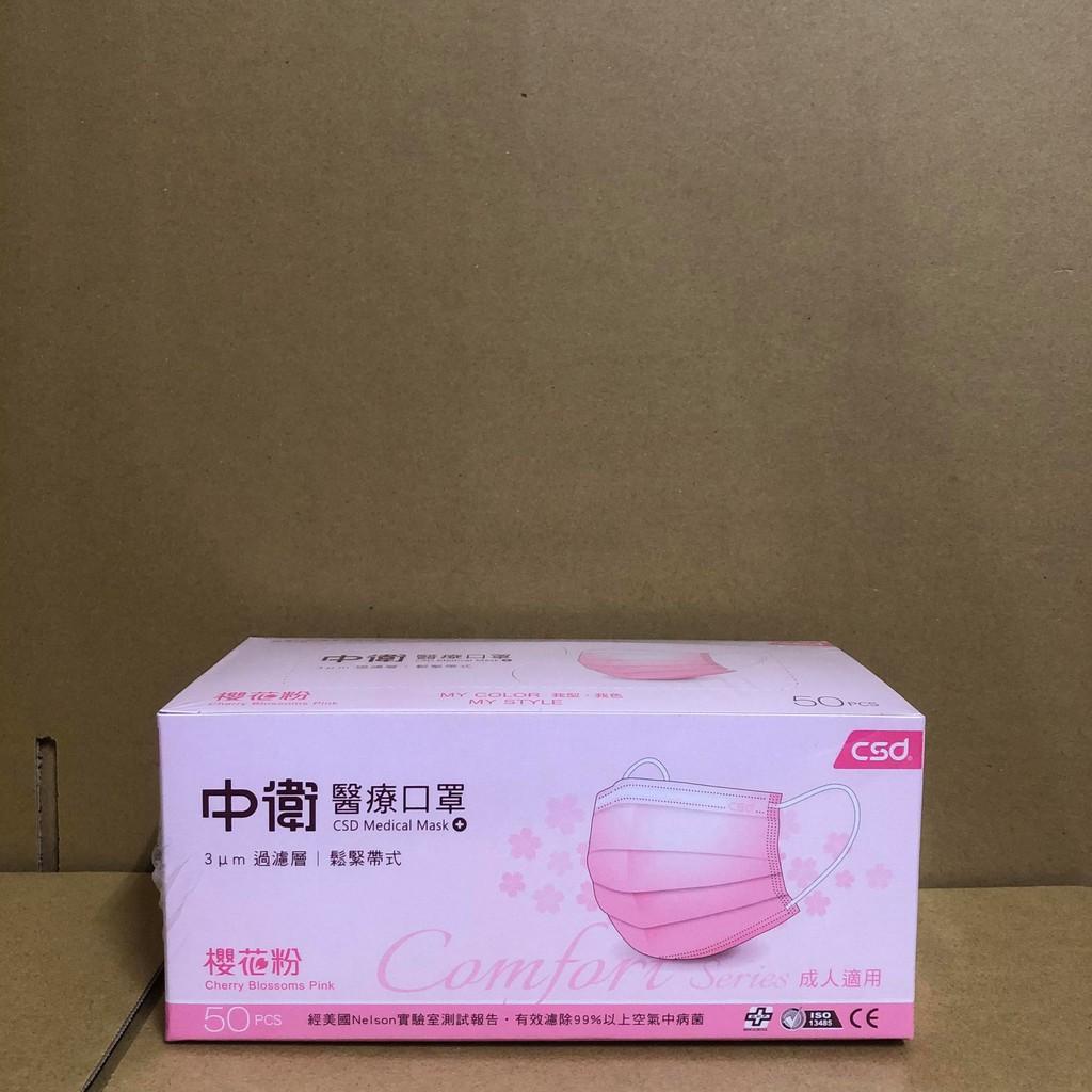 醫療級 台灣國際生醫 上好生醫 x 中衛 櫻花粉 酷黑 盒裝 50入 限量組合 口罩 全新