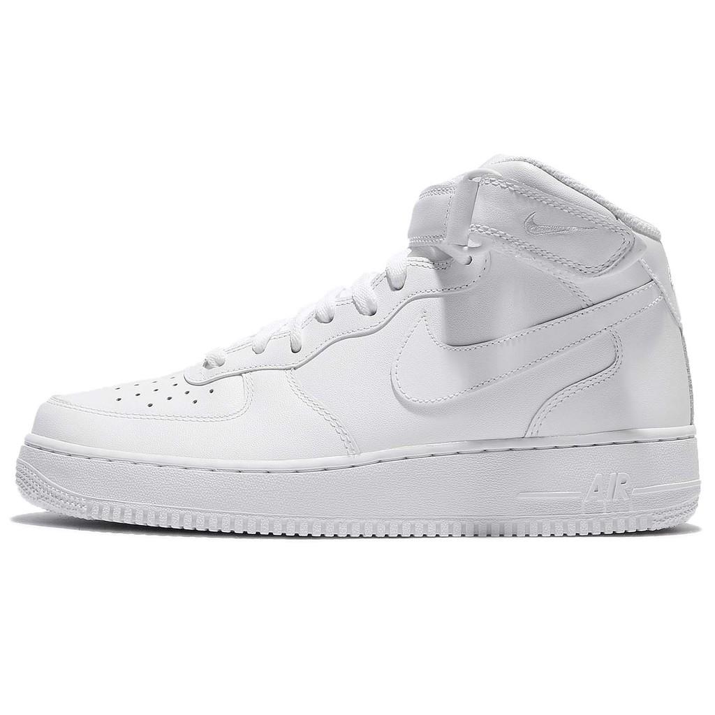 Nike 休閒鞋 Air Force 1 Mid 07 白 男鞋 AF1 中筒 運動鞋【ACS】 315123-111