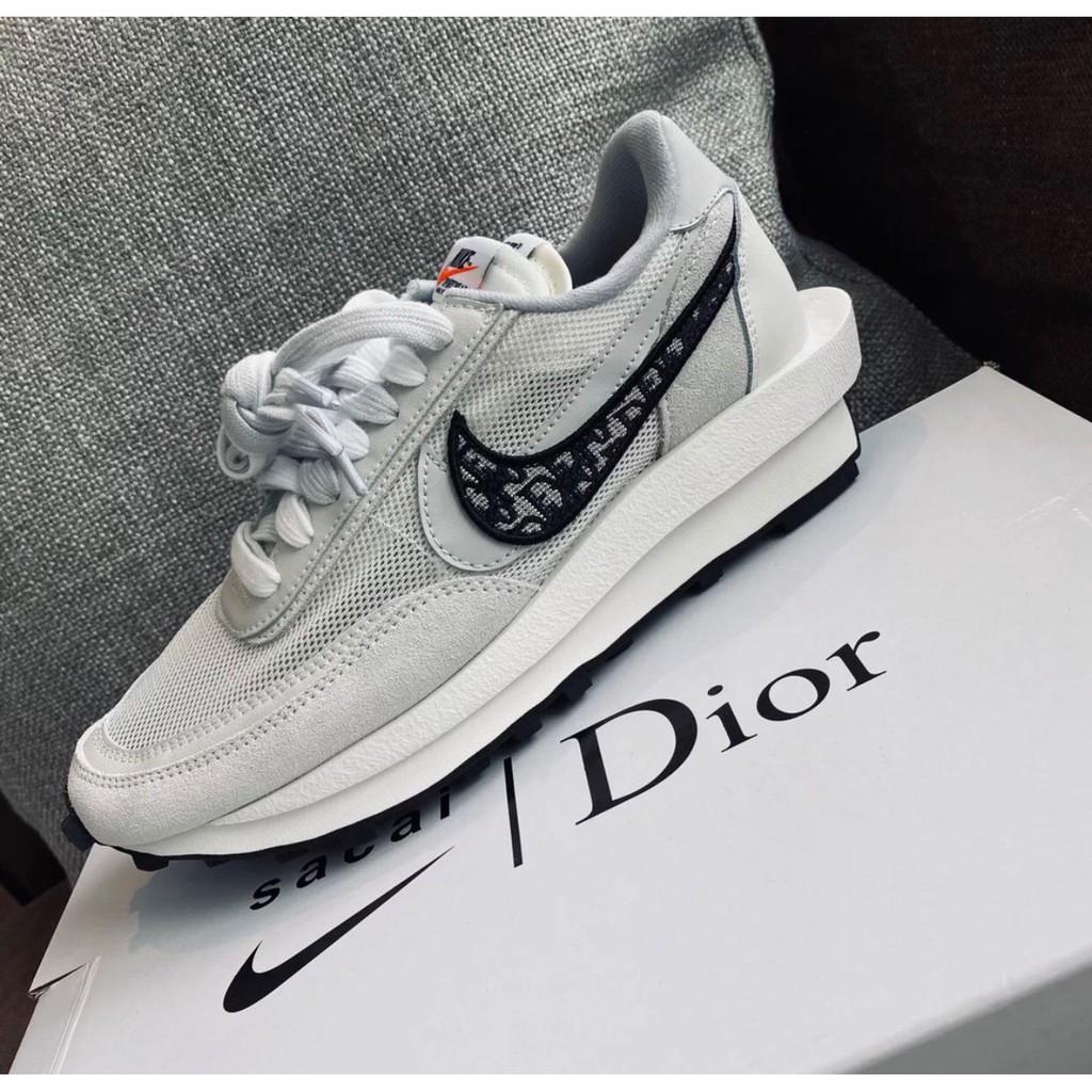 全新AD-Nike x Sacai x Dior 聯名 20 白灰 休閒鞋 預購