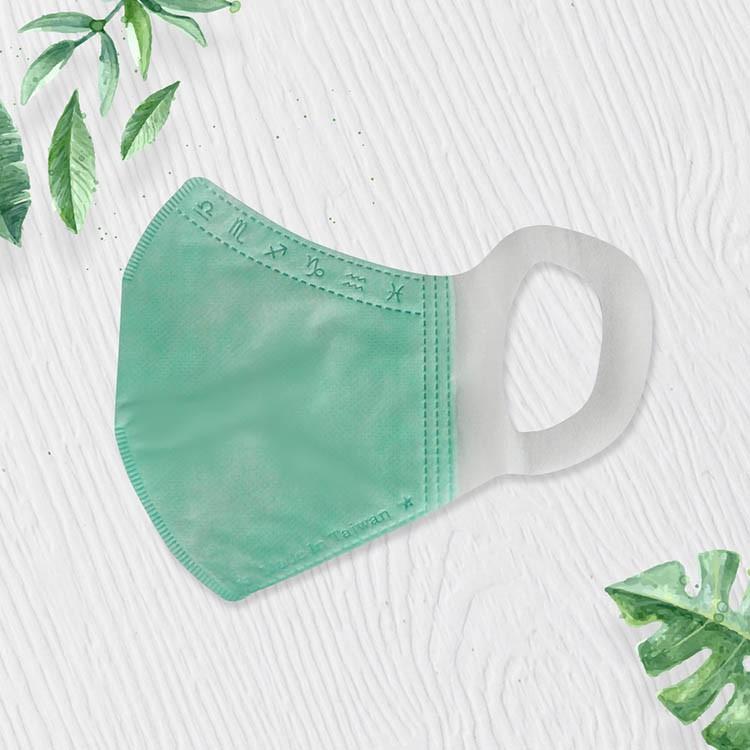 格安德GRANDE 醫用口罩50入/包(綠色),鋼印成人立體口罩,台灣製造,MIT