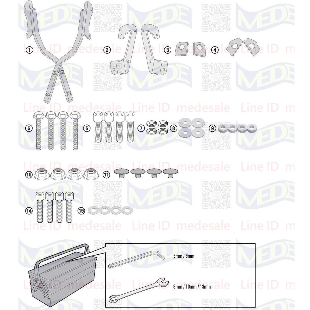 ~MEDE~ Honda CB150 CB150R 17年後專用 Givi SR1169 貨架 後箱 後行李架 尾箱
