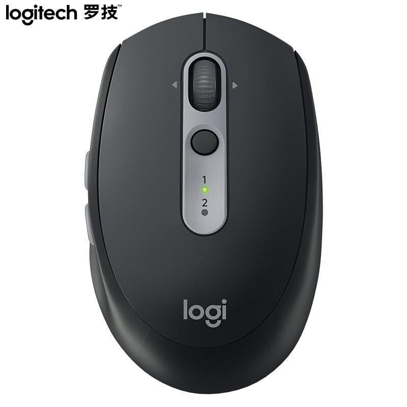 羅技(Logitech)M590靜音鼠標 無線藍牙鼠標 辦公鼠標 對稱鼠標 带优联接收器 石墨黑