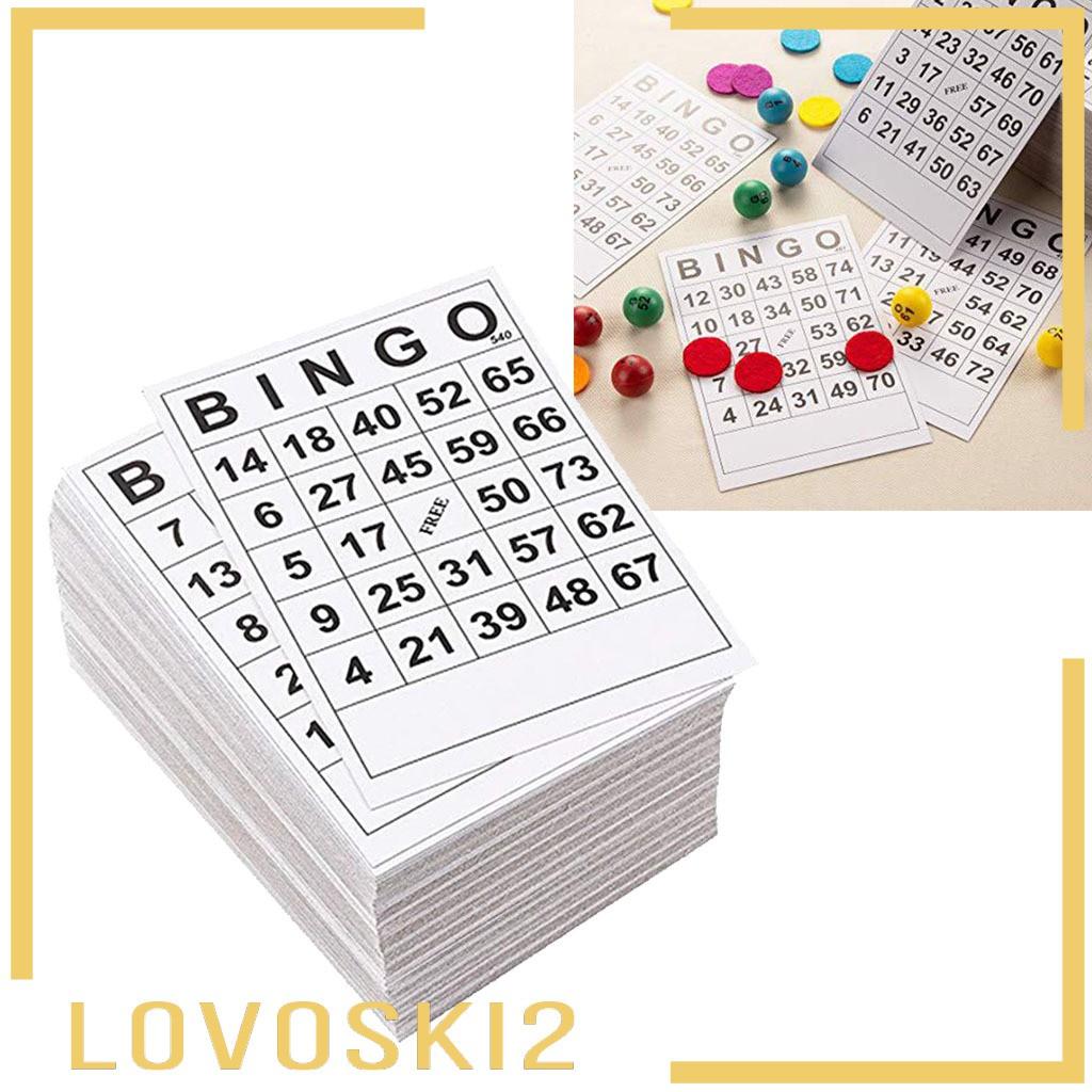 [LOVOSKI2] BINGO紙卡1張裝60張60張卡無重複6 x 7英寸