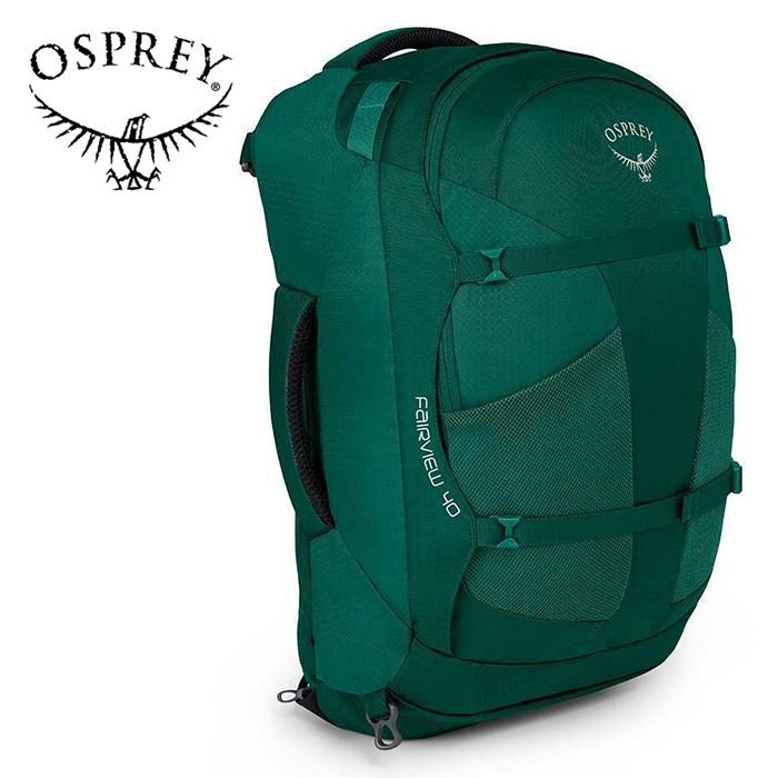 【Osprey 美國】Fairview 40 自助旅行背包 多功能自助行背包 女款 雨林綠 (Fairview40)