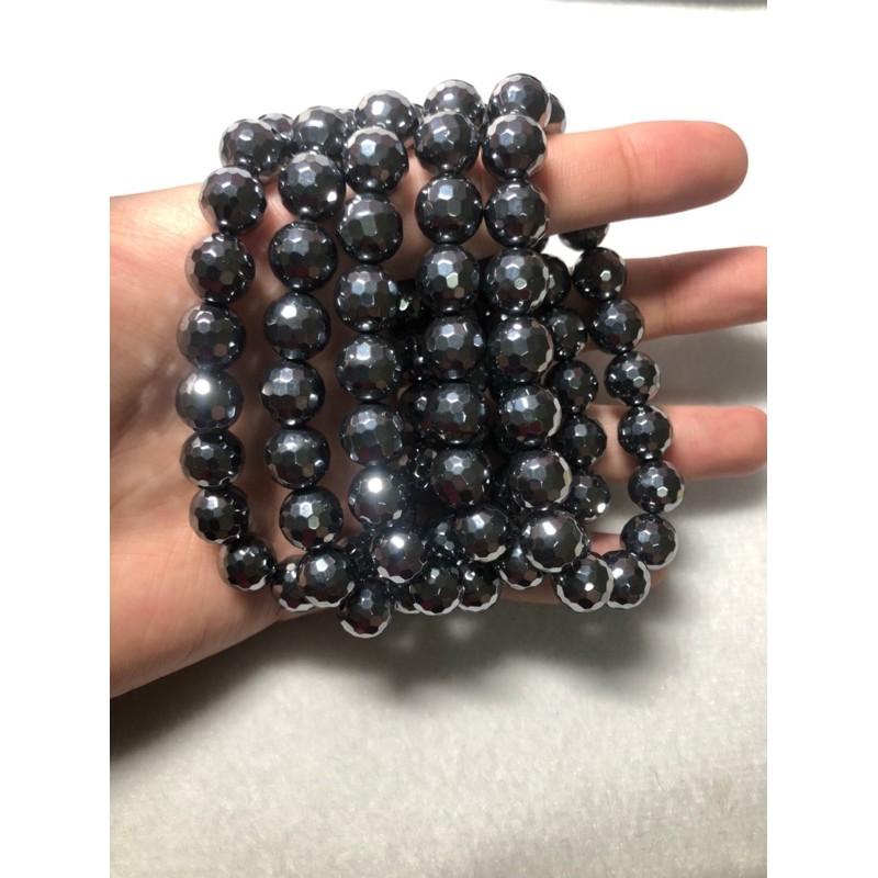 🌸晶品閣🌸 鑽切款鈦赫茲手串/手鍊/手珠