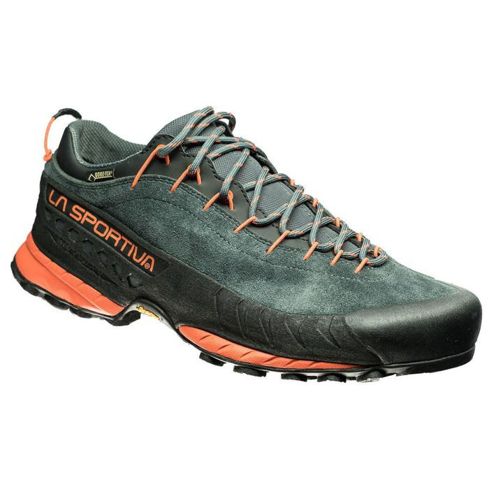 La Sportiva 男款 TX4 防水透氣絨皮登山鞋 GTX 健走鞋 健行鞋 黑/橘 LS27ACF 綠野山房
