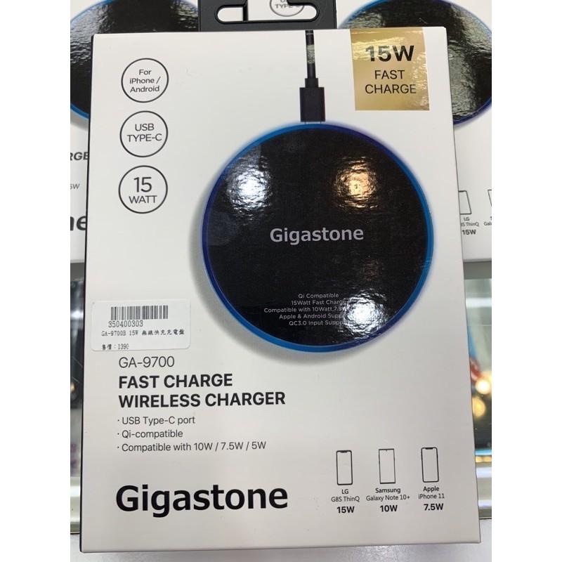 全新Gigastone 立達國際9V/15W 急速無線充電盤GA-9700B(QC3.0快充高速輸入