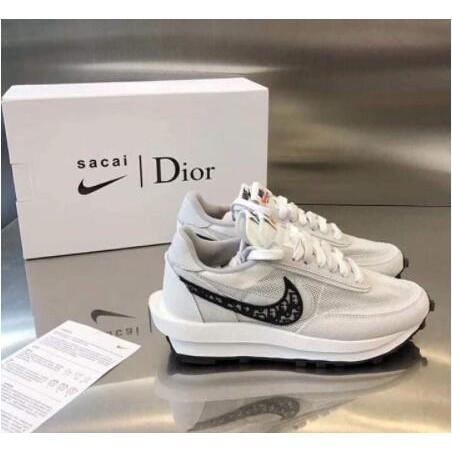 日韓正品 專櫃 AD-Nike x Sacai x Dior 聯名 20新款 白灰 休閒鞋 現貨