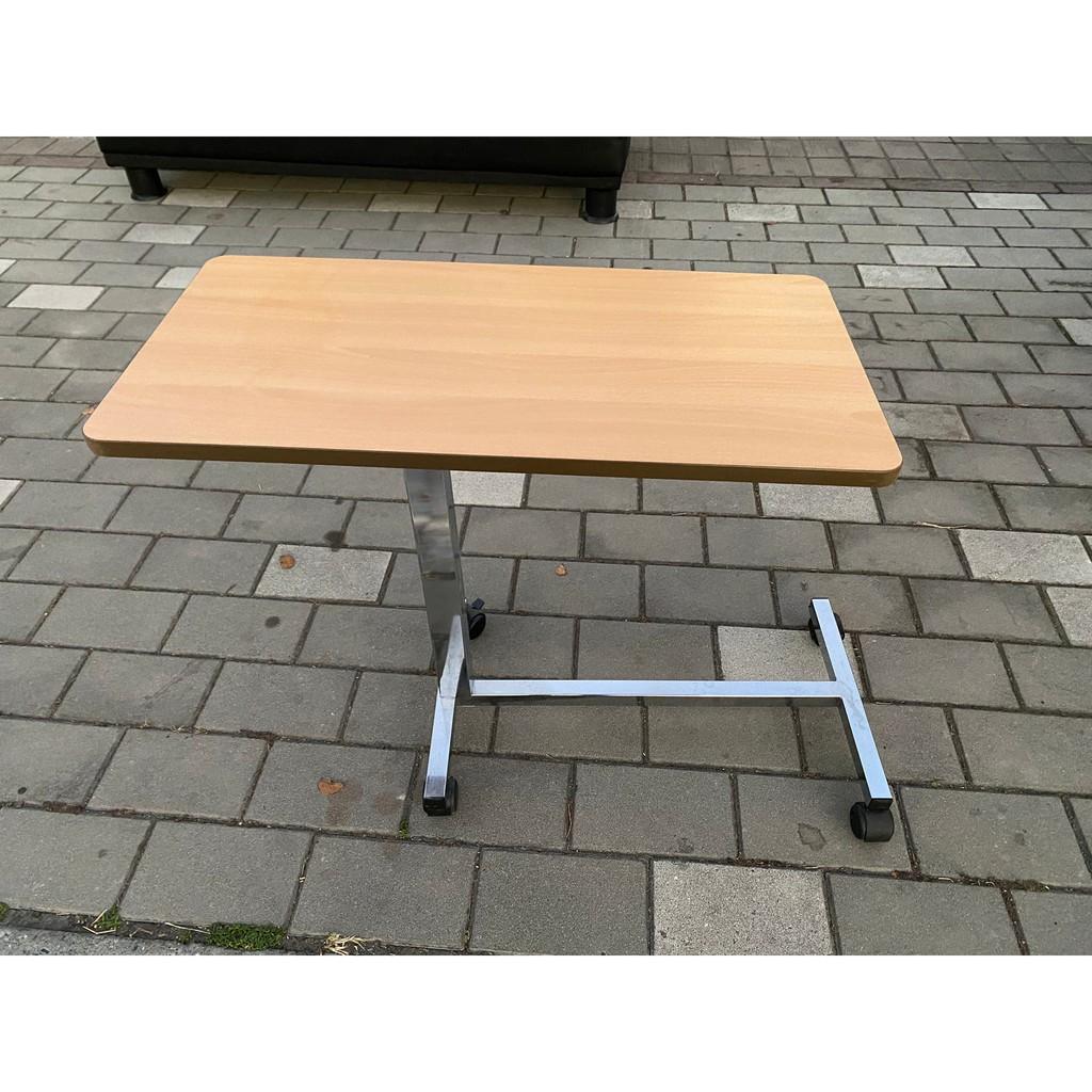 大慶二手家具 木紋鐵腳移動式書桌/閱讀桌/寫字桌/電腦桌/書桌/工作桌