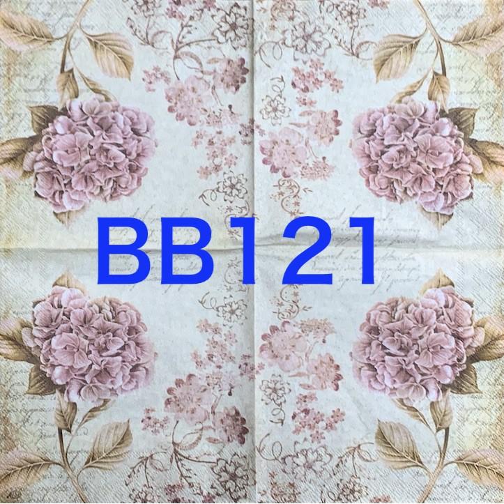 波弟彩繪拼貼/蝶谷巴特餐巾紙/BB121/紫色花花