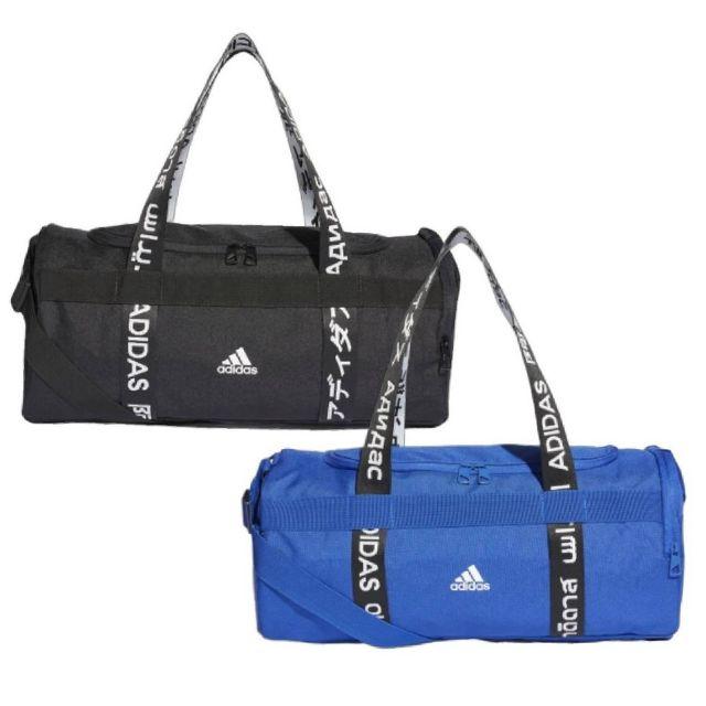 adidas 4ATHLTS DUFFEL 各國文字串標 健身包 旅行袋 黑FJ9353/寶藍FJ4454 現