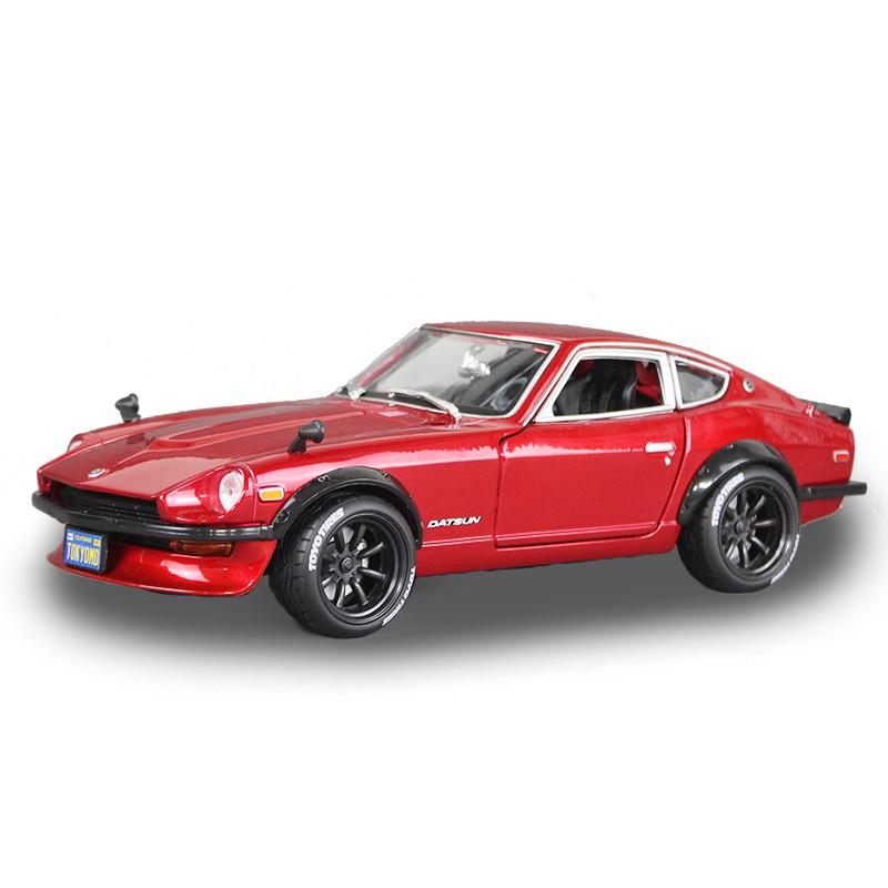 【棋】美馳圖1 18仿真合金汽車改裝版尼桑240Z跑車模型道奇戰馬RT肌肉車