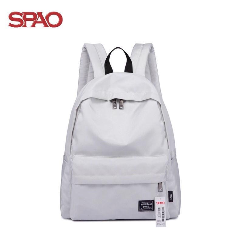 ✣◙∋spao 後背包 SPAO雙肩包 女 韓版 高中校園 簡約 旅行包 小學生 初中生背包 中學生書包 男 韓版 學院