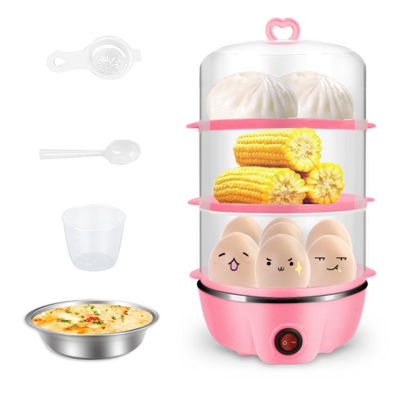克美帝雙層蒸蛋器家用小型 煮蛋器自動斷電 1人迷你