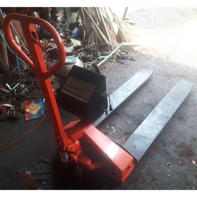中古油壓磅秤拖板車/磅秤車
