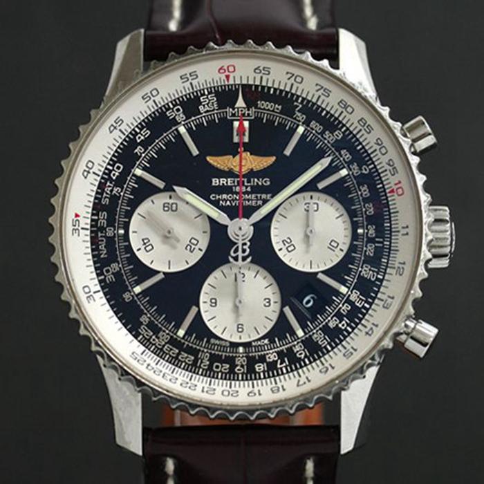 ◤奢侈手錶◢Breitling百年靈航空計時男錶自動機械AB0120瑞士錶原裝正品98新