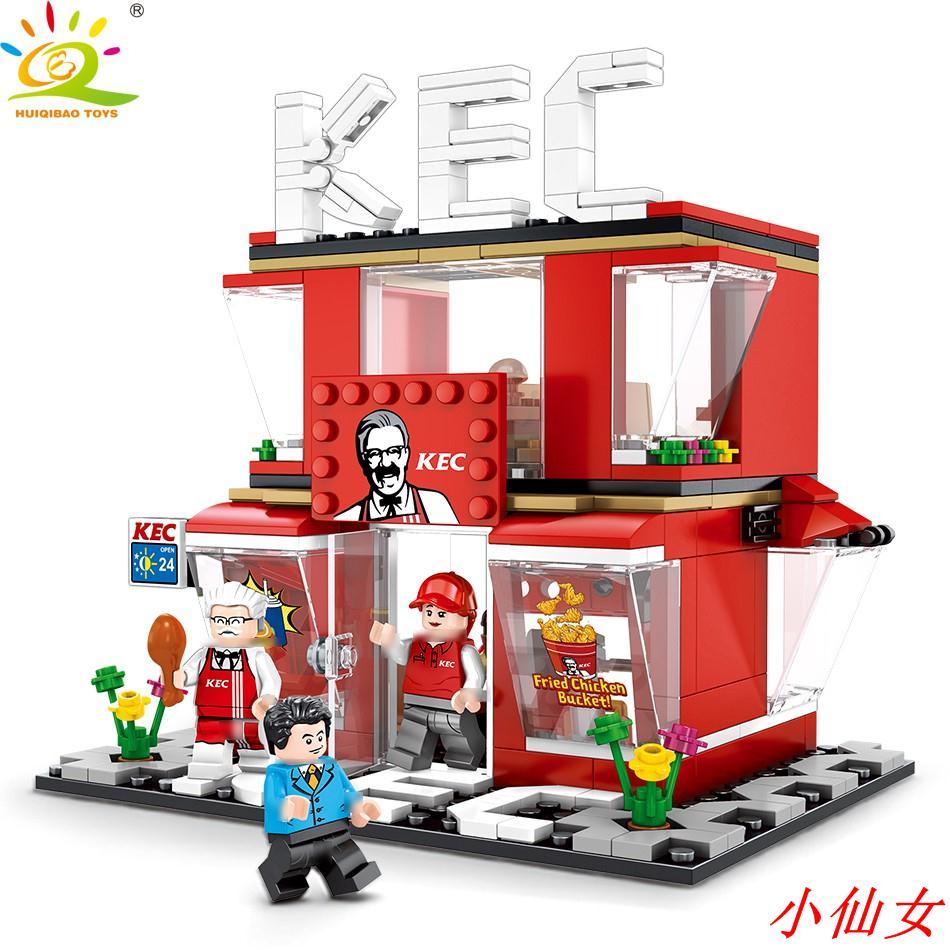 【小仙女】積木【現貨】 60108 迷你街景 相容樂高 LEGO 街景積木 城市系列 哈根達斯 7-11 麥當勞 星巴克