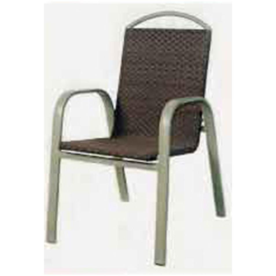 【DC646-23】 鋁合金編籐椅 #A16A06