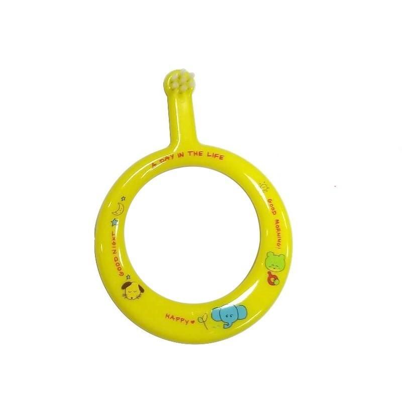 日本 POSY 圓型幼兒安全牙刷 (黃色) / 幼兒初長牙時的練習牙刷