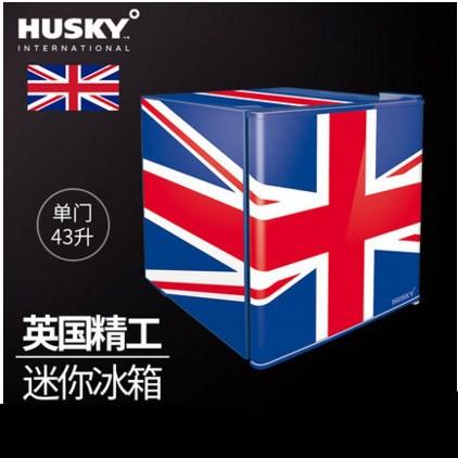HUSKY BC-46-193英國國旗復古小冰箱家用單門小型冰箱宿舍裝飾