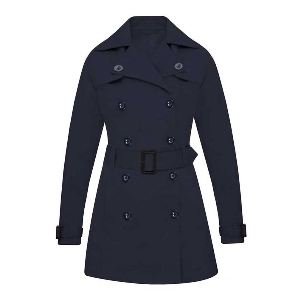 TAKODA 彈性透氣防風防潑水 經典風衣外套 女款-藏青色