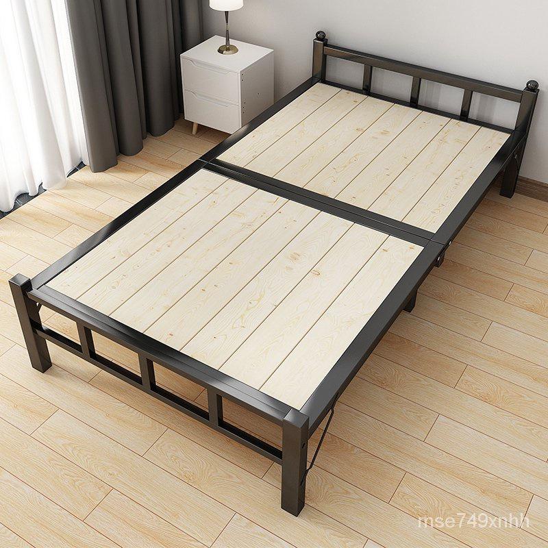 新款簡易折疊折疊午休床【免運】折疊床單人雙人便攜活動床1.2米家用午睡簡易出租房小型硬木板床