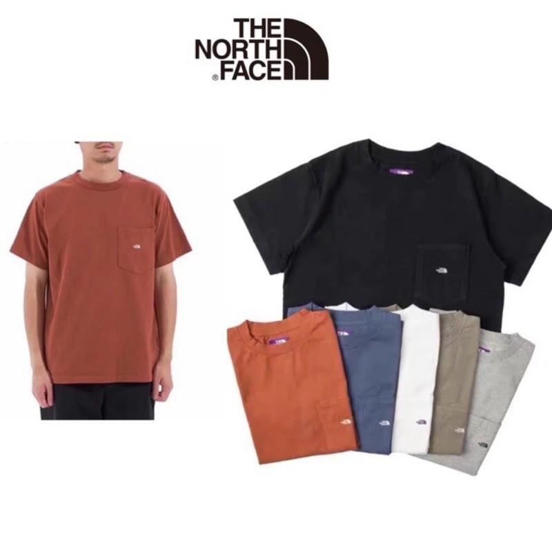 日本🇯🇵代購正品20 The North face 紫標北面7oz H/S Pocket Tee口袋 短袖 T恤