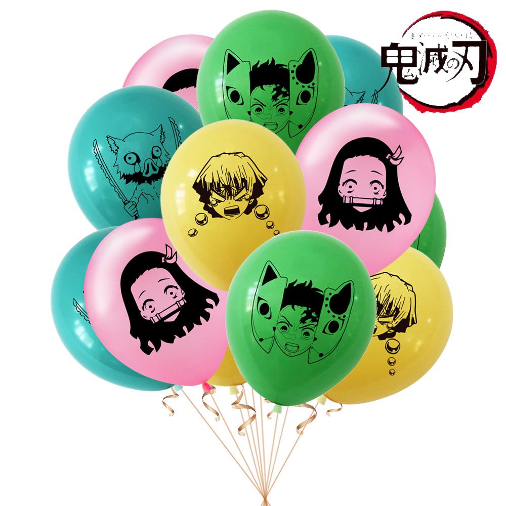 三寶の雜貨鋪鬼滅之刃氣球乳膠氣球12寸氣球 鬼滅之刃主題派對裝飾氣球 Demon Slayer派對用品