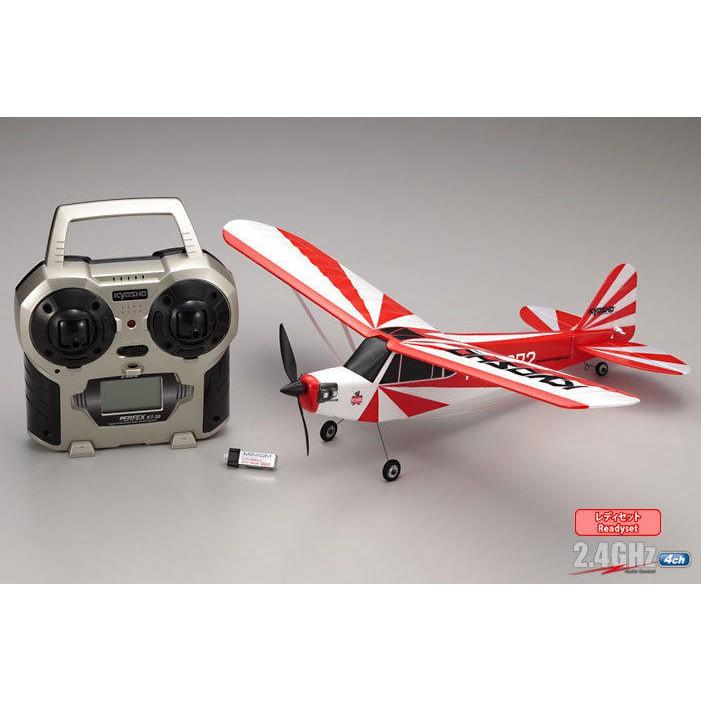 一大RC模型玩具 KYOSHO 京商 (10752RS-CR) MINIUM AD 2.4G 全套遙4動飛機 (紅
