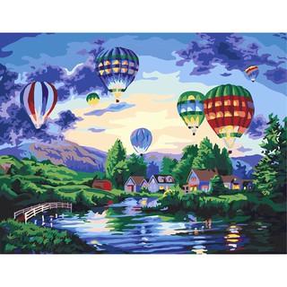 現貨-放飛夢想-可超商取貨付款DIY手繪數字油畫30x40CM填色客廳裝飾畫創意禮物可開收據 臺中市