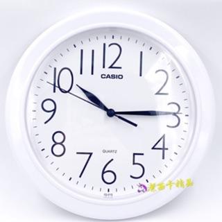 🦄潔西卡精品-日本 卡 西歐 CASIO IQ-01S 白色 圓形 掛鐘 白底黑字  數字清晰 臺北市