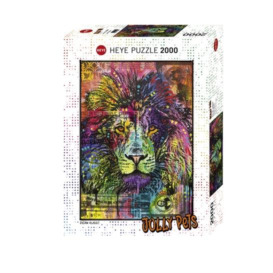 【德國進口】HEYE 2000片拼圖《JOLLY PeTS》獅子心 七彩 動物 29894