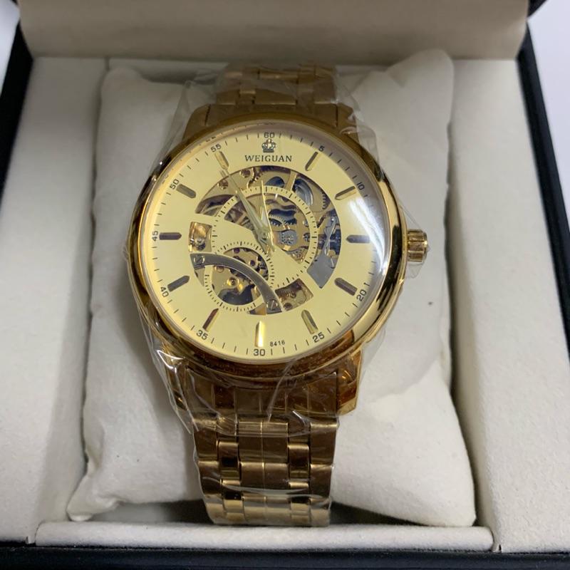 WEIGUAN全金機械錶全新品