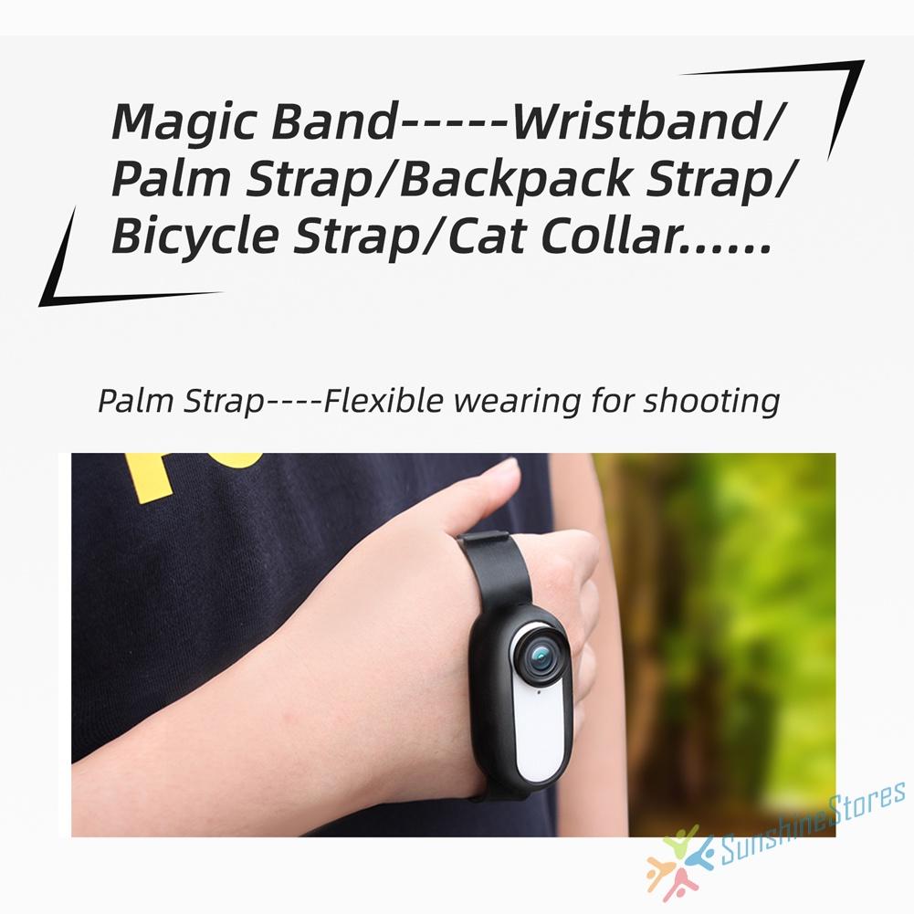 Ss. 用於 Insta360 GO 2 腕帶的矽膠保護套自行車貓項圈帶