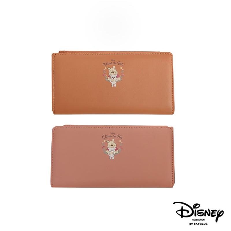天藍小舖-迪士尼系列甜蜜擁抱小熊維尼款皮革長夾-共2色-A08081270