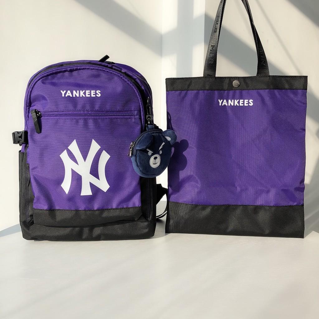 MLB洋基隊兒童背包學習袋掛件小包三件套 生日禮物開學禮物雙肩包 大容量超輕多夾層智能輕量書包學校後背包手提包減負/代購